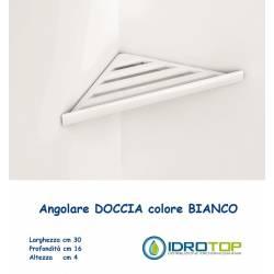 Portasapone per Doccia in ABS Angolare ad Incollo a lamelle Bianco Ibb BX83bia
