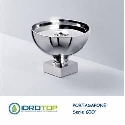 Portasapone GIO' da appoggio Cromato Ibb GI21