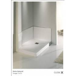 Piatto doccia RETTANGOLARE SOLIDSTONE NATURAL  colore BIANCO
