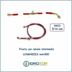 Tubo Flessibile-Frusta Colore Rosso con Valvola Intermedia x R410-Idrotop