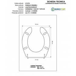 Copriwater PASHA-H9199.1 Bianco Cerniera Rallentata Soft Close Cromo-Duravit