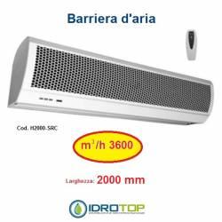 Barriera d'Aria 2000mm Centrifuga a Temperatura Ambiente con Telecomando