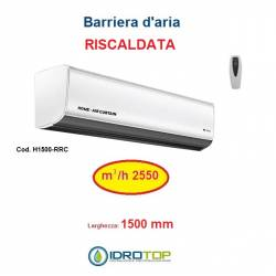 Barriera d'Aria 1500mm Centrifuga a Riscaldata con Resistenza e Telecomando Incluso