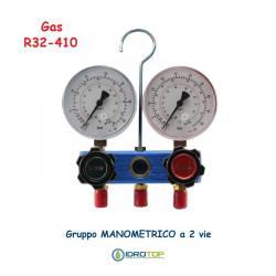 Gruppo Manometrico 2 vie Classe 1 per Gas R32-410-Idrotop