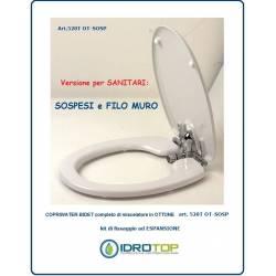 Tapis WC bidet 520T pour WC suspendu et à ras du mur - avec mélangeur intégré