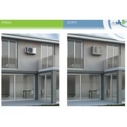 Couvre climatiseur pour unité extérieure, L900xH700xP450 en aluminium composite