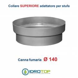 Collare Superiore diam.140 Scalda Acqua-per Soprastufa per canna fumaria Ø 140