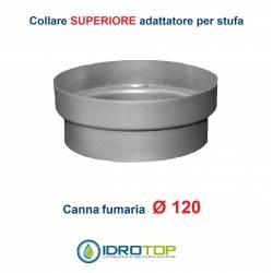 Collare Superiore diam.120 Scalda Acqua-per Soprastufa per canna fumaria Ø 120