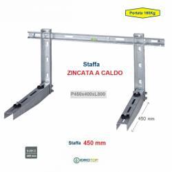 Staffa Regolabile ZINCATA a CALDO cm 45 per Climatizzatore portata 160 Kg.