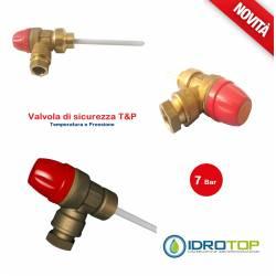 Valvola di Sovrapressione e Sicurezza 7 bar T&P per scaldabagni e boiler