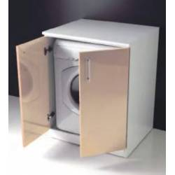 Coprilavatrice , mobile porta lavatrice per lavanderia modello Luna Rossa