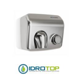 Asciugamani elettrico manuale GENWEC CLASSICFLOW in acciaio inox