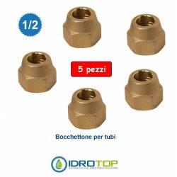 """Kit 5 Bocchettone con Filetto 1/2"""" Sae per Tubi Climatizzatori-Giunto"""