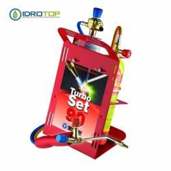 Stazione di Saldatura Autogena-Turbo set 90 Oxyturbo Kit Cannello-Idrotop