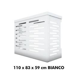 Jimmy Copri Climatizzatore/Condizionatore BIANCO Unità Esterna L1100xH830xP590 in Alluminio Composito