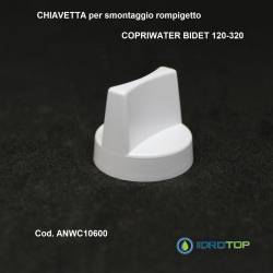 CHIAVETTA PER ROMPIGETTO DI RICAMBIO copriwater bidet x articolo 120-320 ORIGINALE