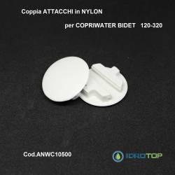 COPPIA ATTACCHI NYLON DI RICAMBIO copriwater bidet x articolo 120-320 ORIGINALE