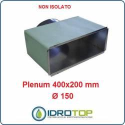 Plenum per Bocchette 400x200mm d.150 -INGRESSO POSTERIORE