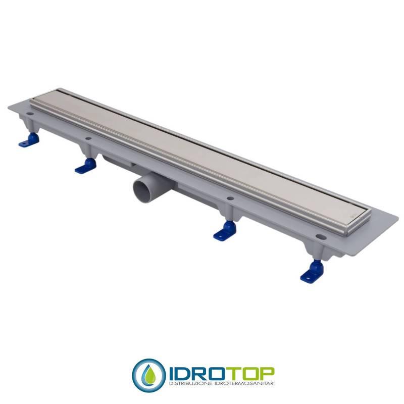 Kit canaletta doccia L 450 filo pavimento telaio acciaio inossidabile